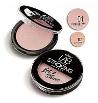 Пудра-стробинг Let`s Shine LAB colour тон 01 pink glow